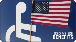 disabled logo with american flag social security disability vs supplemental security income
