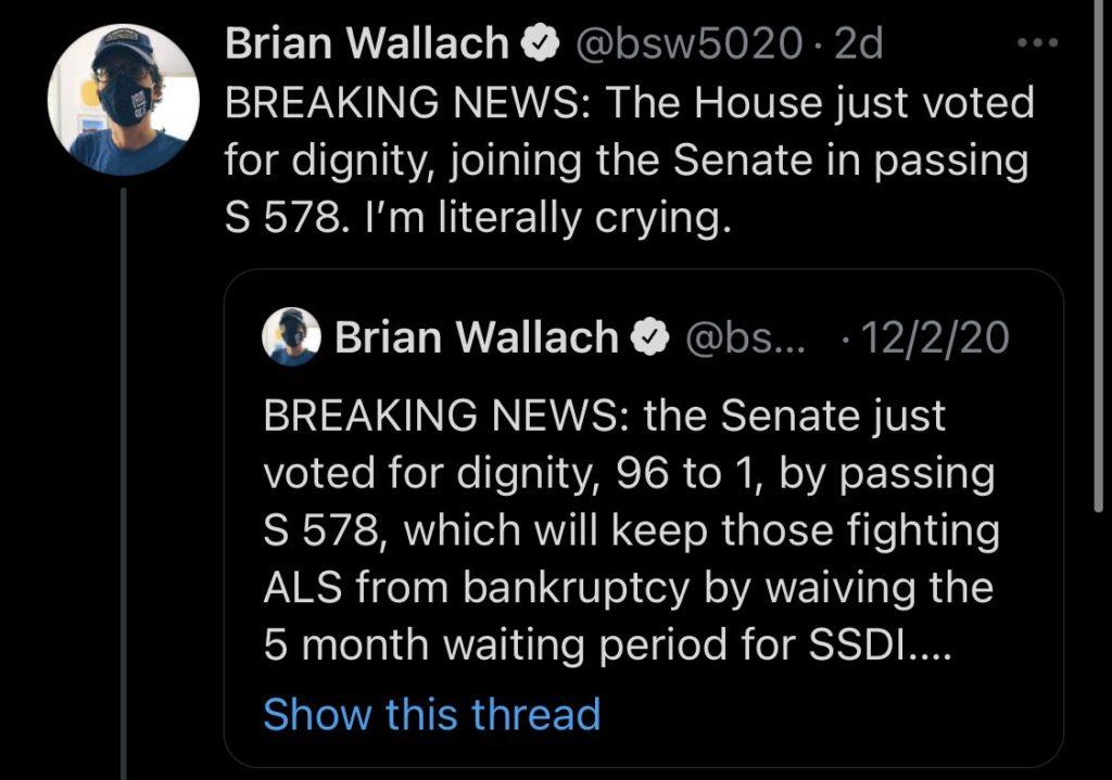 Brian Wallach tweet